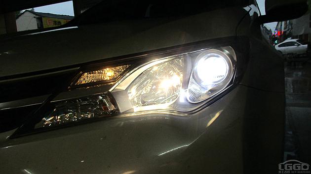 RAV4改LED双光透镜