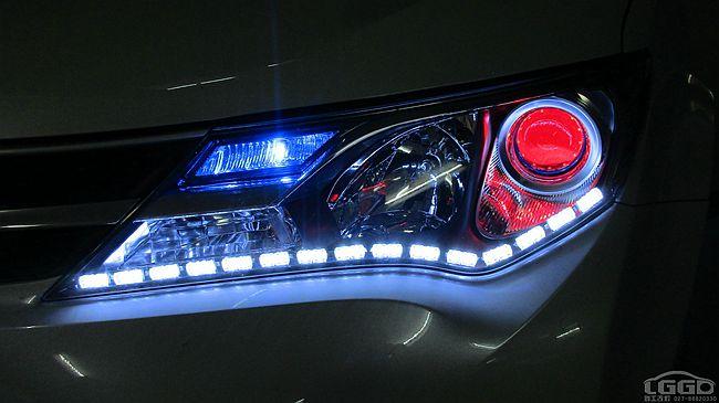 丰田RAV4改LED双光透镜