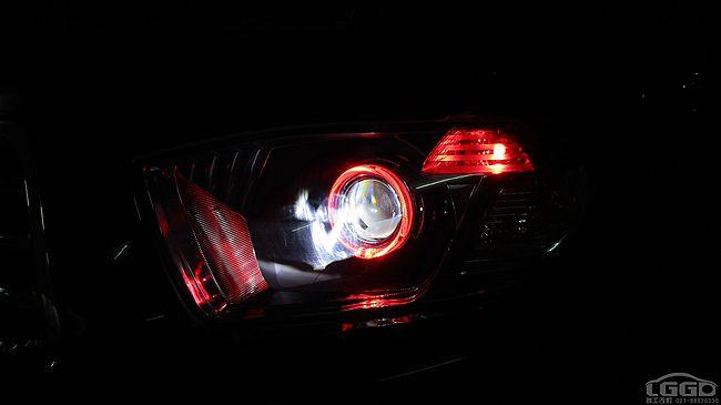 丰田汉兰达改LED透镜
