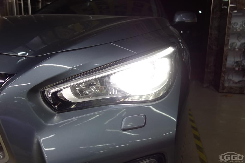 英菲尼迪Q50L改LED双光透镜