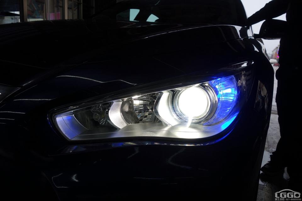 武汉英菲尼迪Q50L改灯