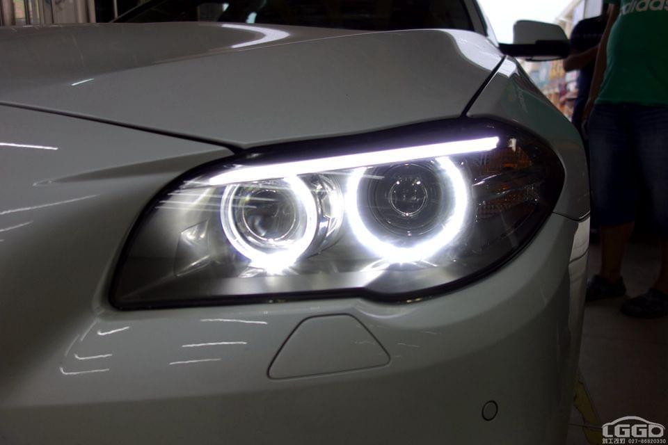 宝马5系改LED4透镜