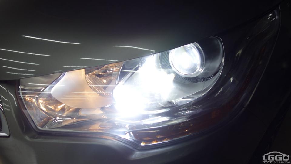 雪铁龙C4L改LED双光透镜