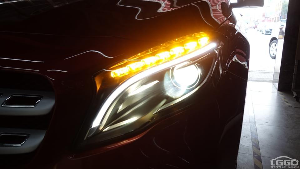 武汉奔驰GLA改成品个性大灯总成