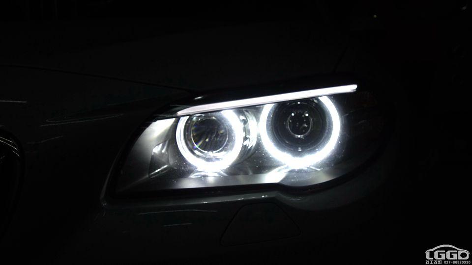 宝马5系改小糸LED双光透镜