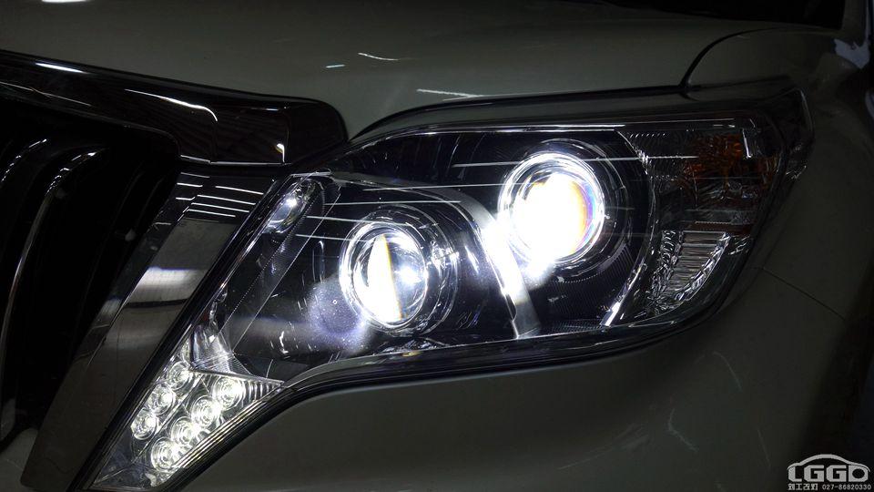 丰田普拉多改LED双光4透镜