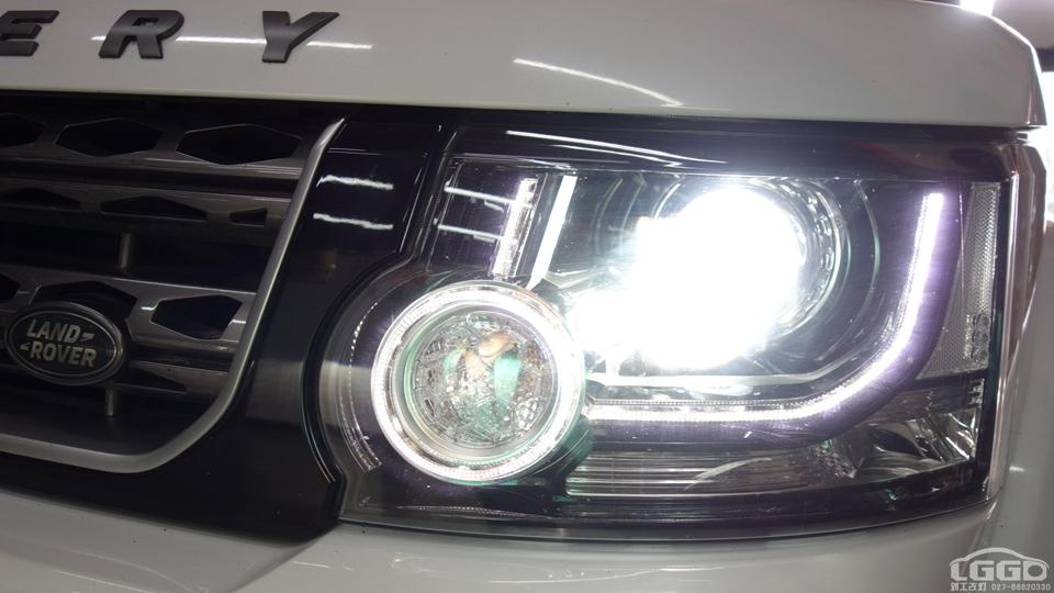 路虎发现4改欧司朗CBH5600K氙灯套装