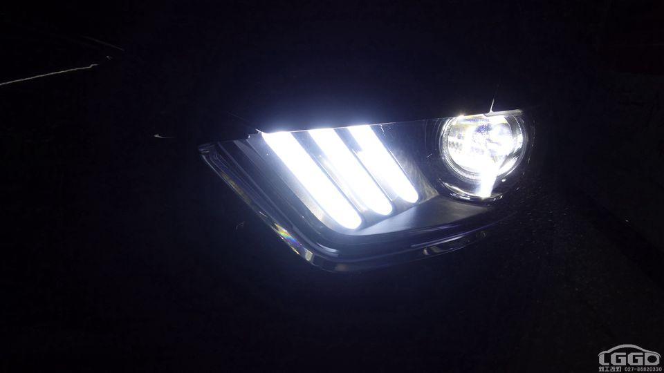 福特野马改小糸LED双光透镜