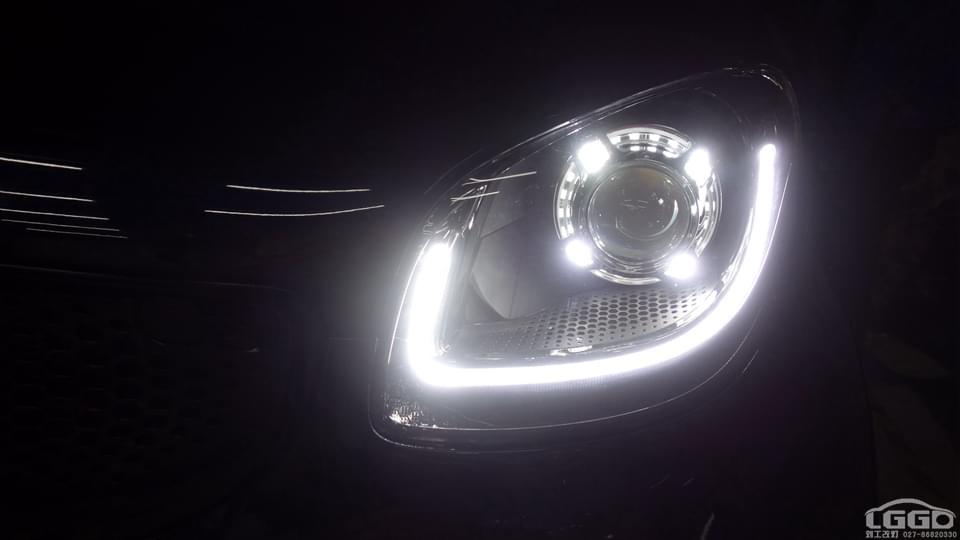 奔驰smart卤素灯碗升级阿帕6S套装
