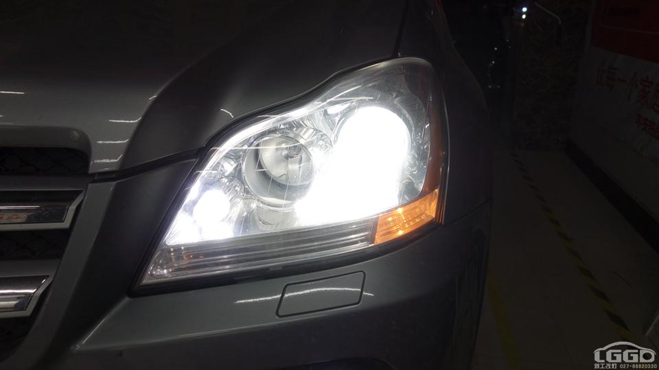奔驰GL350原车卤素灯不亮改欧司朗CBH套装