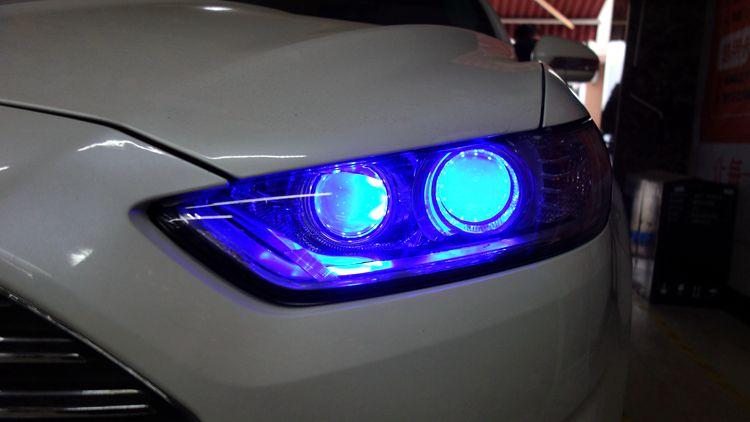 福特蒙迪欧车灯不亮改4透镜