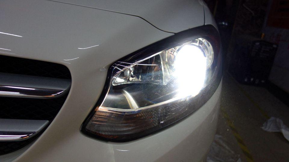 奔驰B200车灯不亮改阿帕6S套装