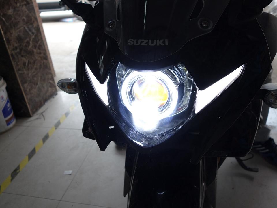 铃木摩托车大灯不亮改GS-LED双光透镜