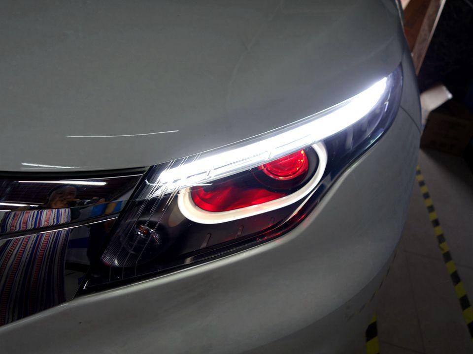 观致5原车灯不亮改GS-LED双光透镜