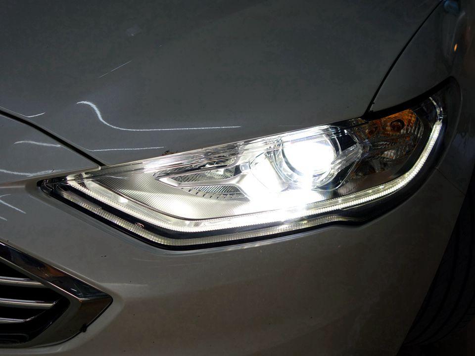 福特18款蒙迪欧原车灯不亮改阿帕6S套装