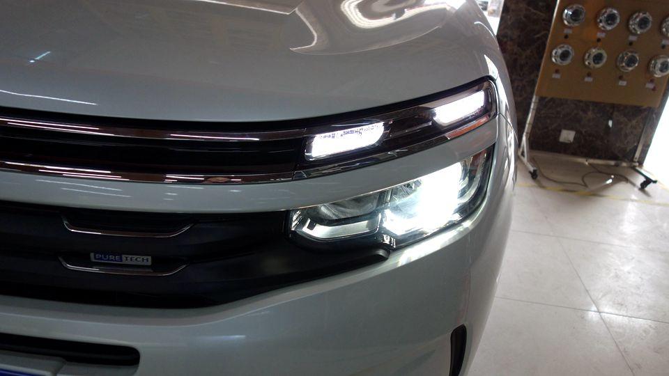 雪铁龙天逸改灯-专业改装升级LED、双光透镜