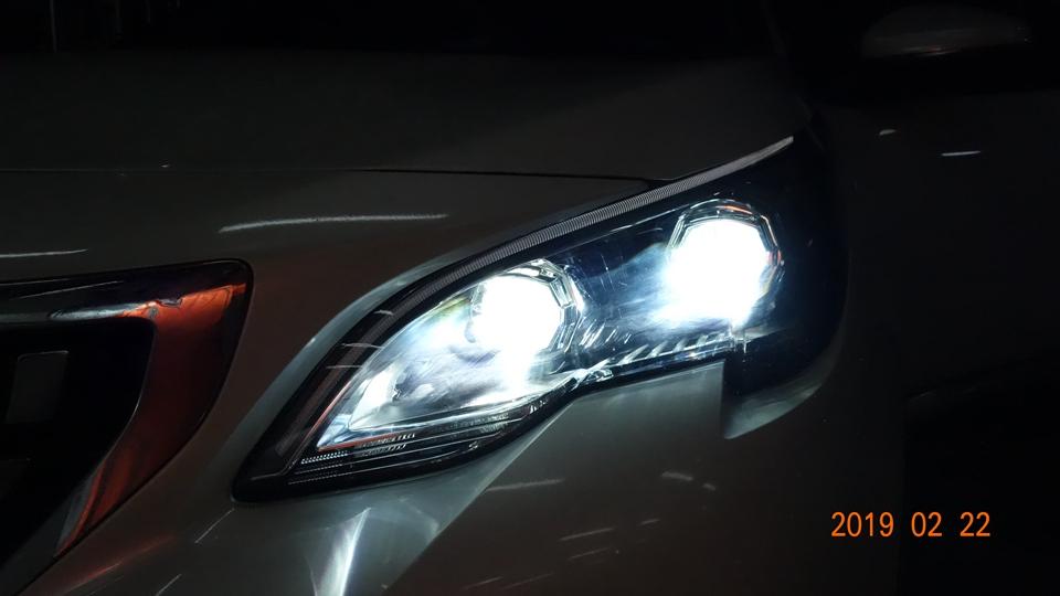 标志4008原车灯不亮改双光透镜-安定器-氙气灯