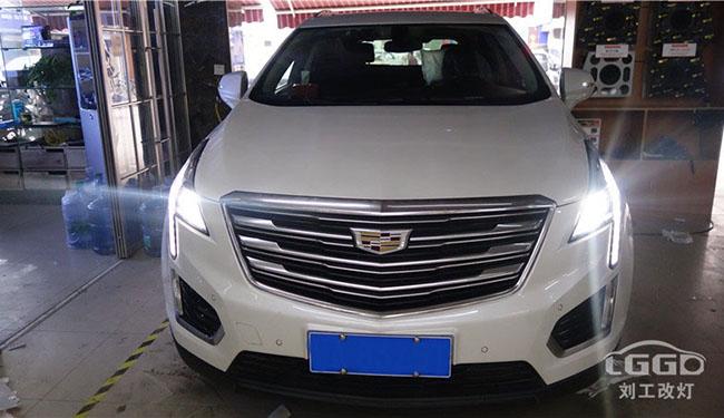 武汉改灯,凯迪拉克GX5车灯改装升级阿帕6plus套装