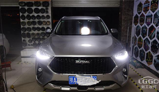 黄冈改灯、长城哈佛F7车灯改装升级欧司朗XNL套装