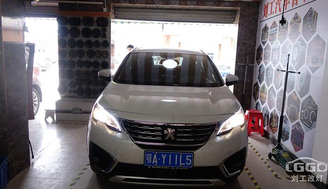 标志改灯,标志5008车灯改装升级欧司朗XNL套装