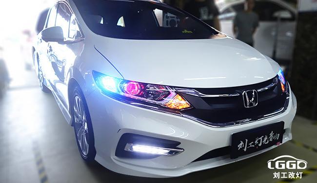 本田杰德车灯改装升级阿帕黄金版套装+日行灯