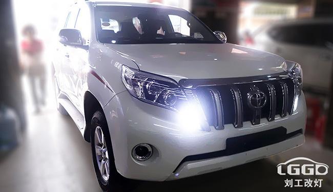 丰田霸道改灯,车灯改装阿帕2H套装+GS雾灯双光透镜