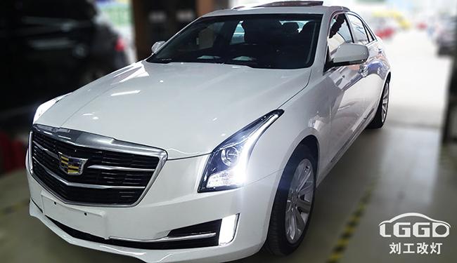 凯迪拉克大灯改装,ATS车灯改装欧司朗X7-LED双光透镜套装+白黄日行灯