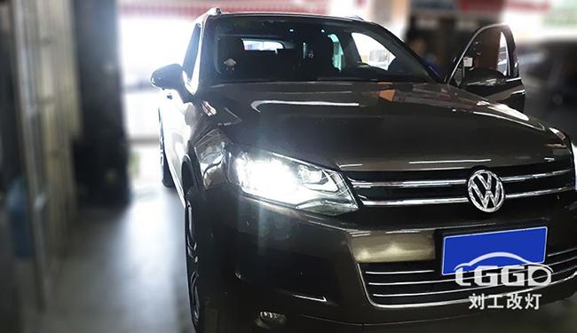 途锐改灯,车灯改装阿帕V5-LED双光透镜,亮度至少提升3-5倍