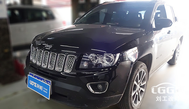 武汉改灯,Jeep指南者车灯改装专供海5套装,亮度比原车提升3-5倍