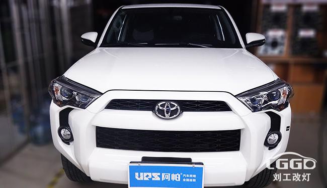 超霸改灯,丰田超霸车灯改装阿帕6S套装,改后亮度至少提升3-5倍