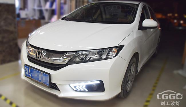 锋范,原车卤素灯碗,晚上开车看不清路,改装极光LED双光透镜