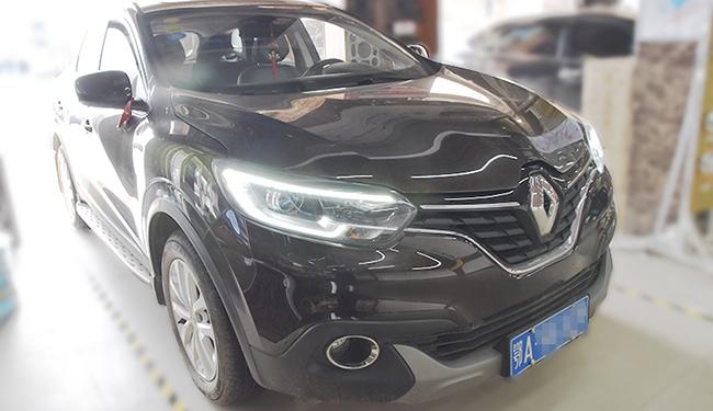 科雷嘉大灯改装,原车H7单光卤素透镜,升级氙灯双光透镜