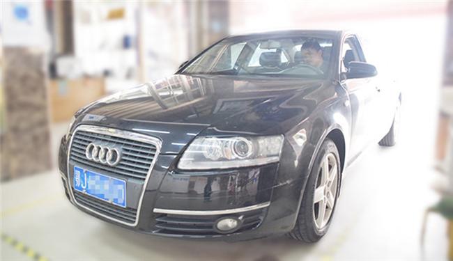 奥迪A6改装灯,老车子,车灯眼睛已经老眼昏花了,看不清路,得治!