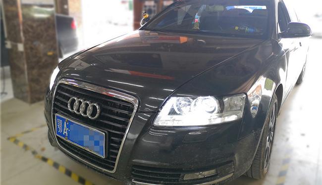 A6改灯,改装欧司朗LED双光透镜加更换大灯灯面罩!