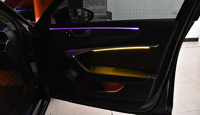 武汉灯光升级,A6加装氛围灯!
