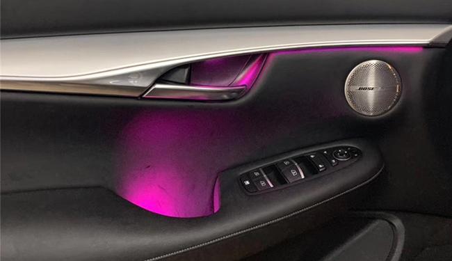 武汉英菲尼迪QX50改装64色氛围灯!