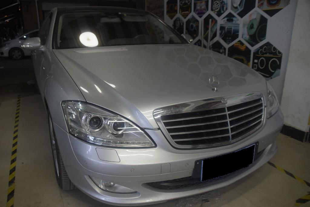 奔驰S300改灯 升级两套欧司朗CBI LED双光透镜,更换全新灯罩