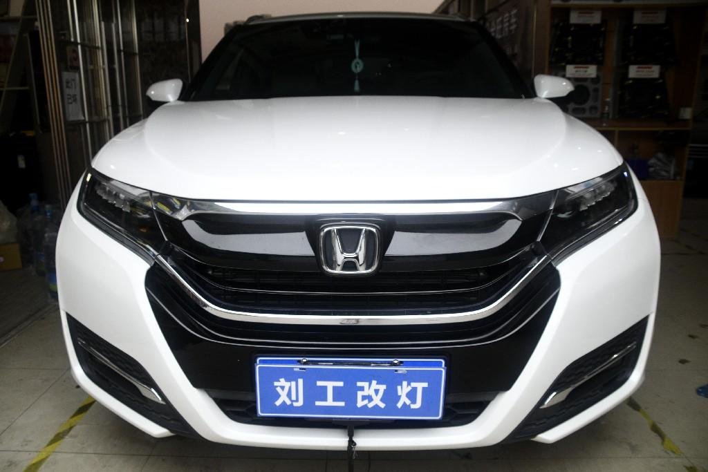 本田URV原厂全LED灯组升级LED双光透镜,夜间行车更安全