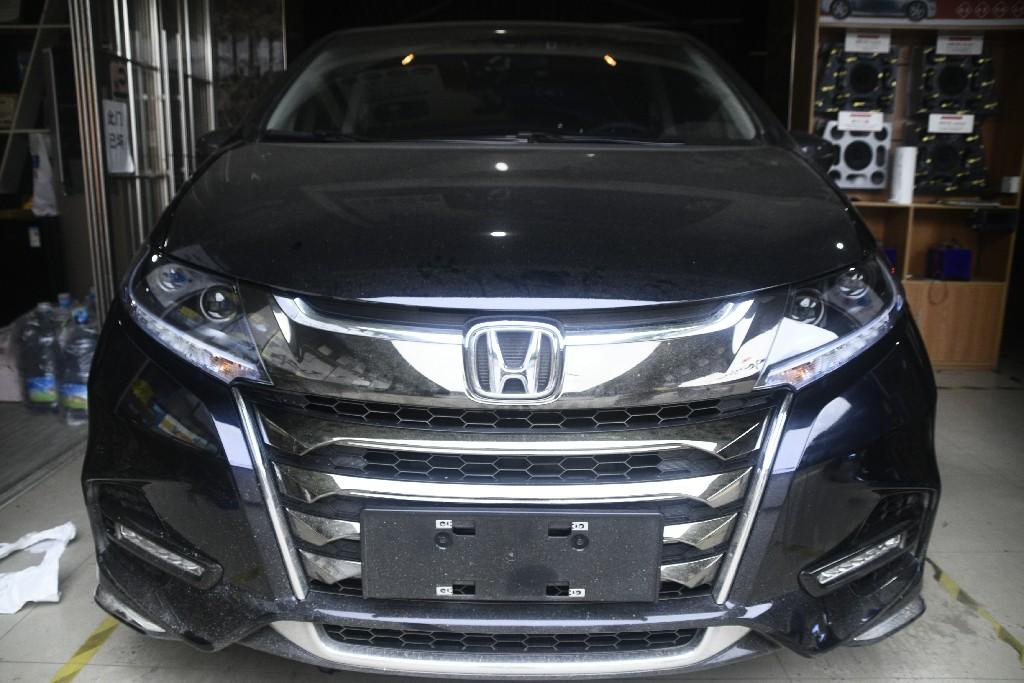 本田奥德赛车灯改装升级LED双光透镜