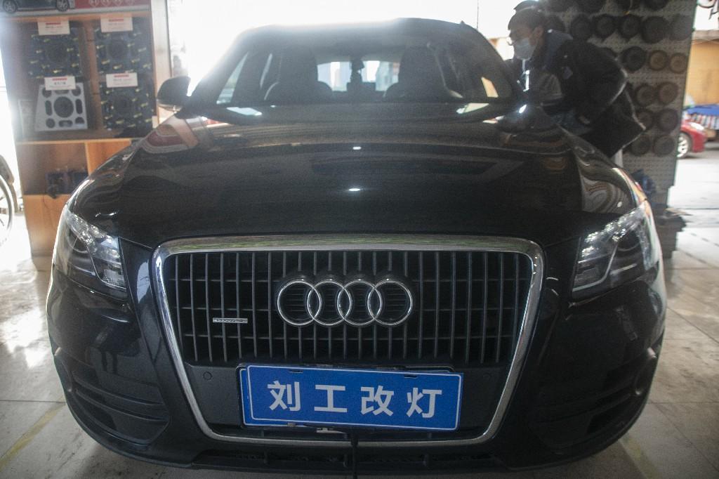 奥迪Q5车灯改装升级激光远近一体双光透镜,外观不变