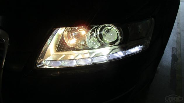 06款奥迪A6L升级10款大灯总成